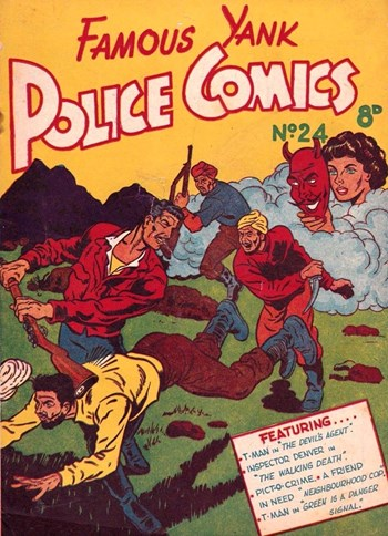 Famous Yank Police Comics (Ayers & James, 1951 series) #24  ([February 1952?])