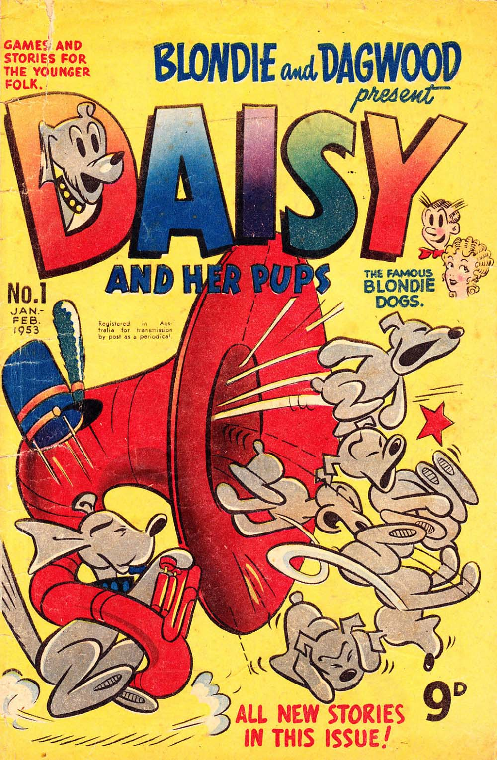 Blondie and Dagwood Present Daisy and Her Pups