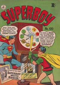 Superboy (Colour Comics, 1950 series) #120 — Superboy meets Robin (Cover)