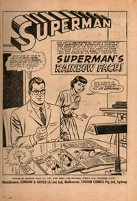 Superman Supacomic (Colour Comics, 1959 series) #69 — Superman's Rainbow Face (page 1)