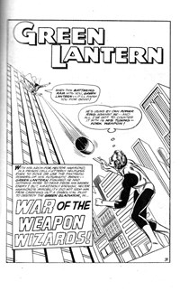 Green Lantern Album (Murray, 1978? series) #7 — War of the Weapon Wizards! (page 1)