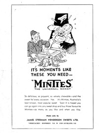"Bluey and Curley (""Truth"" and ""Sportsman"", 1942? series)  — It's Moments Like These You Need--""Minties"" (page 1)"