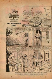 Roy Rogers (Horwitz, 1955? series) #23 — The Baranca Trail (page 1)
