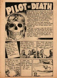 The New Big Hit Comics (Frank Johnson, 1945?)  — Pilot of Death (page 1)