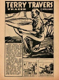 The New Big Hit Comics (Frank Johnson, 1945?)  — Terry Travers Trader (page 1)
