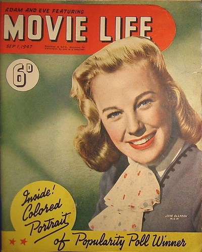 Adam and Eve Featuring Movie Life (Southdown Press, 1945 series) v2#3 (1 September 1947)