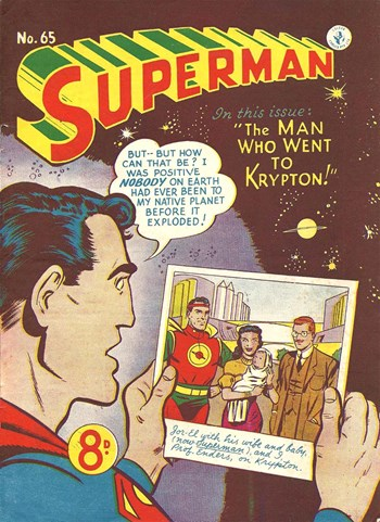 The Man Who Went to Krypton—Superman (Colour Comics, 1950 series) #65  ([January 1953])