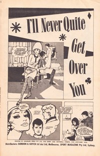 Romantic Rendezvous Comic (Sport Magazine, 1968 series) #19 — I'll Never Quite Get Over You (page 1)