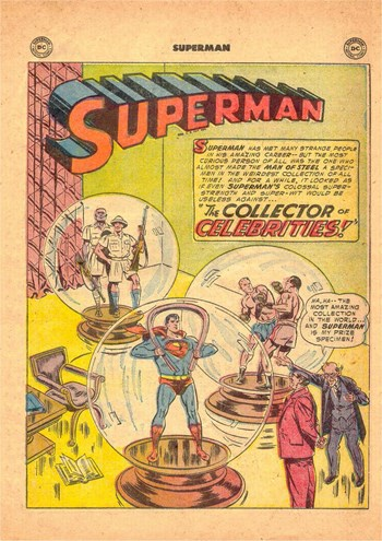 Superman (DC, 1939 series) #96 — The Collector of Celebrities (page 1)
