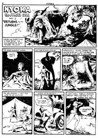 Nyoka the Jungle Girl (Cleland, 1949 series) #44 — Returns to the Jungle! Part II (page 1)