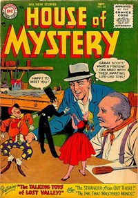 House of Mystery (DC, 1951 series) #42 — The Talking Toys of Lost Valley! (Cover)