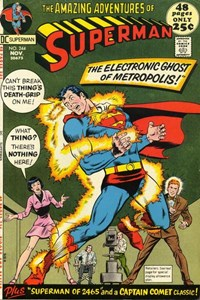 Superman (DC, 1939 series) #244 — The Electronic Ghost of Metropolis!