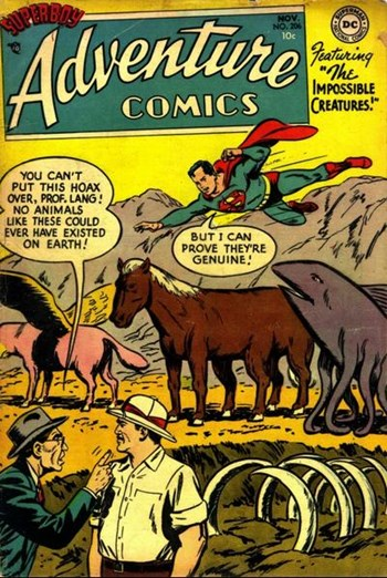 The Impossible Creatures!—Adventure Comics (DC, 1938 series) #206  (November 1954)