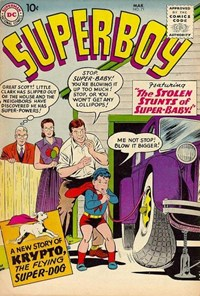Superboy (DC, 1949 series) #71 — The Stolen Stunts of Super-Baby!