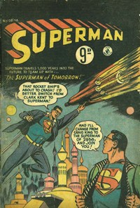 Superman (Colour Comics, 1950 series) #108 — The Superman of Tomorrow! (Cover)