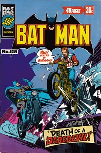 Batman (KGM, 1976 series) #131 — Death of a Daredevil