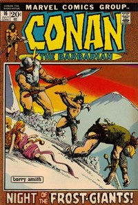Conan the Barbarian (Marvel, 1970 series) #16 — Night of the Frost-Giants! (Cover)