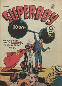 Public Chimp No. 1, Page 1—Superboy (Colour Comics, 1950 series) #86  ([April 1956])
