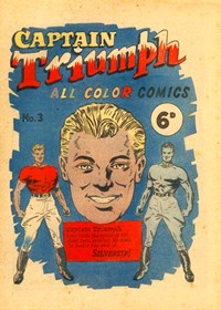 Captain Triumph All Color Comics (KGM, 1947 series) #3 — No title recorded (Cover)