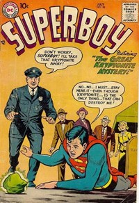 Superboy (DC, 1949 series) #58 — The Great Kryptonite Mystery!