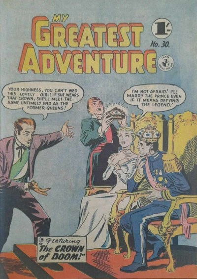 My Greatest Adventure (Colour Comics, 1955 series) #30 ([September 1957?])