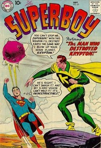 Superboy (DC, 1949 series) #67 — The Man Who Destroyed Krypton!