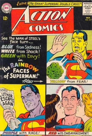 The Rainbow Faces of Superman!