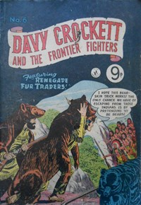 Davy Crockett and the Frontier Fighters (Colour Comics, 1955 series) #6 ([April 1956?])