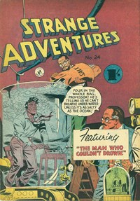 Strange Adventures (Colour Comics, 1954 series) #24 — The Man Who Couldn't Drown