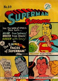 Superman Supacomic (Colour Comics, 1959 series) #69 — The Rainbow Faces of Superman