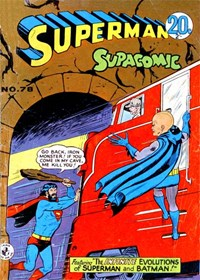 Superman Supacomic (Colour Comics, 1959 series) #78 — The Infinite Evolutions of Superman and Batman
