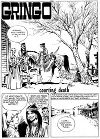 Double Barrel Western (Gredown, 1980? series)  — Courting Death (page 1)