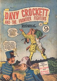 Davy Crockett and the Frontier Fighters (Colour Comics, 1955 series) #1 ([1955?])