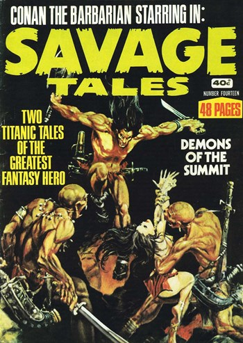 Demons of the Summit—Savage Tales (KG Murray, 1972 series) #14  ([March 1977?])
