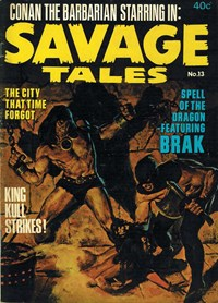 Savage Tales (KG Murray, 1972 series) #13 — The City that Time Forgot (Cover)
