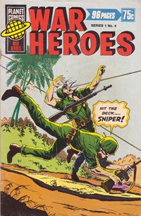 Planet Series 1 (Murray, 1977 series) #4 ([December 1977?]) —War Heroes