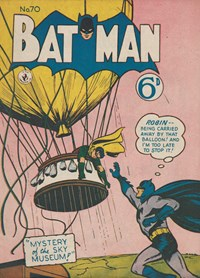 Batman (Colour Comics, 1952 series) #70 — Mystery of the Sky Museum!