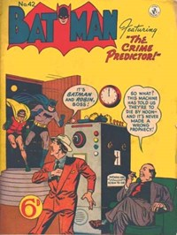 Batman (Colour Comics, 1952 series) #42 — The Crime Predictor!