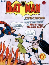 Batman (Colour Comics, 1952 series) #31 — The Mightiest Team on Earth!