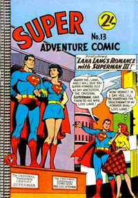 Super Adventure Comic (Colour Comics, 1960 series) #13 — Lana Lang's Romance with Superman III!