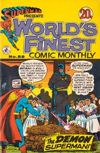 Superman Presents World's Finest Comic Monthly (Colour Comics, 1965 series) #58 — The Demon Superman!