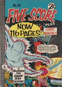 Five-Score Plus Comic Monthly (Colour Comics, 1960 series) #34 — I Unleashed the Light-Ray Creature!