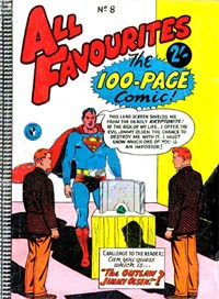 All Favourites, The 100-Page Comic (Colour Comics, 1958 series) #8 — The Outlaw Jimmy Olsen!