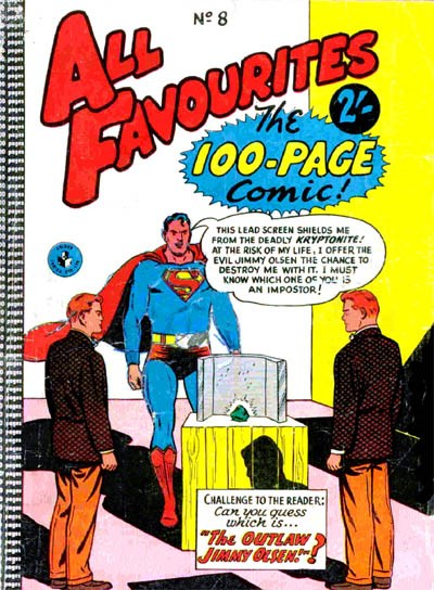 All Favourites, The 100-Page Comic (Colour Comics, 1958 series) #8 ([July 1958?])