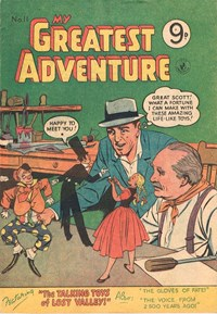 My Greatest Adventure (Colour Comics, 1955 series) #11 — The Talking Toys of Lost Valley (Cover)