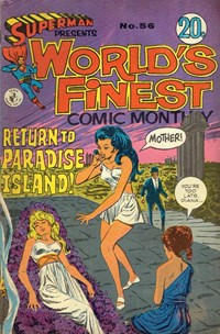 Superman Presents World's Finest Comic Monthly (Colour Comics, 1965 series) #56 — Return to Paradise Island!