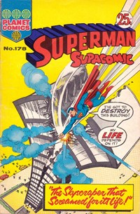 Superman Supacomic (KG Murray, 1974 series) #178 — The Skyscraper that Screamed for its Life!