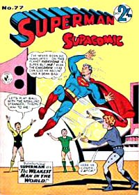 Superman Supacomic (Colour Comics, 1959 series) #77 — The Weakest Man in the World