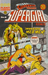 Superman Presents Supergirl Comic (KG Murray, 1973 series) #8 — No title recorded (Cover)