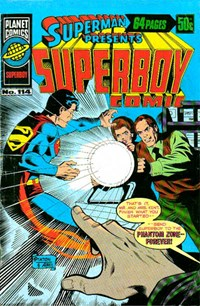Superman Presents Superboy Comic (Murray, 1976 series) #114 — Ad World Series Cricket Board Game-1978/79 season